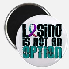 "Losing Is Not An Option Thyroid Cancer 2.25"" Magne"