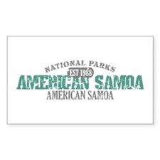 American Samoa National Park Decal
