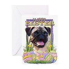 Easter Egg Cookies - Pug Greeting Card
