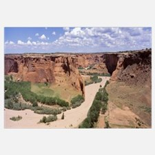 High angle view of riverbed, Canyon De Chelly, Ari