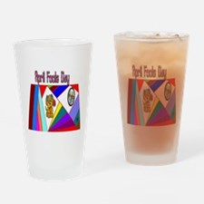 April Fools Day Fun Drinking Glass