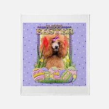 Easter Egg Cookies - Poodle Throw Blanket
