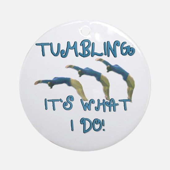 Tumbling Gymnast Ornament (Round)