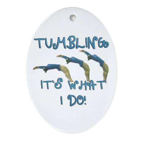 Tumbling Gymnast Ornament (Oval)