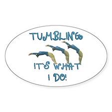 Tumbling Gymnast Decal