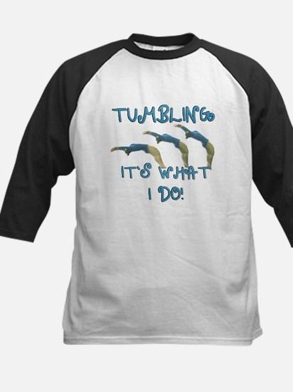 Tumbling Gymnast Kids Baseball Jersey