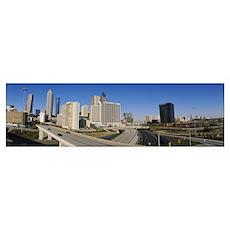 Skyscrapers in a city, Cityscape, Atlanta, Georgia Poster