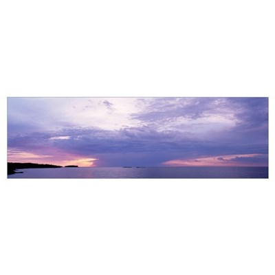 Clouds over a lake, Lake Superior, Upper Peninsula Framed Print
