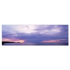 Clouds over a lake, Lake Superior, Upper Peninsula Poster