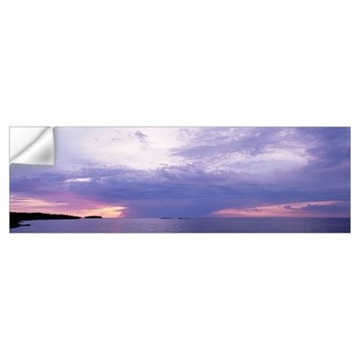 Clouds over a lake, Lake Superior, Upper Peninsula Wall Decal
