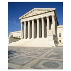 Low angle view of a government building, US Suprem Poster
