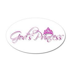 God's Princess 22x14 Oval Wall Peel