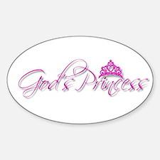 God's Princess Sticker (Oval)