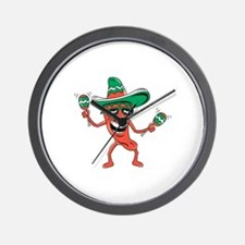 Cute Hot peppers Wall Clock