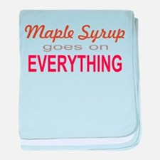Maple Syrup goes on Everythin baby blanket