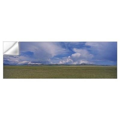 Panoramic view of a steppe, Independent Mongolia Wall Decal