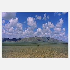 Grass field in front of a mountain range, Karakoru