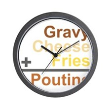 The Poutine Equation Wall Clock