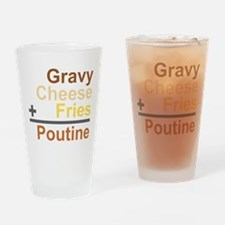The Poutine Equation Drinking Glass