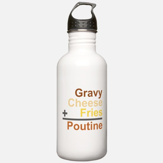 The Poutine Equation Water Bottle