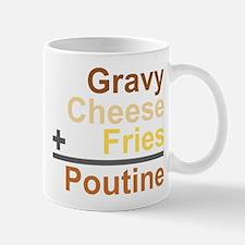 The Poutine Equation Small Mugs
