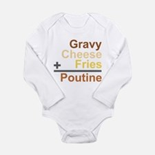 The Poutine Equation Long Sleeve Infant Bodysuit