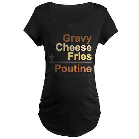 The Poutine Equation Maternity Dark T-Shirt