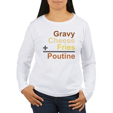 The Poutine Equation Women's Long Sleeve T-Shirt