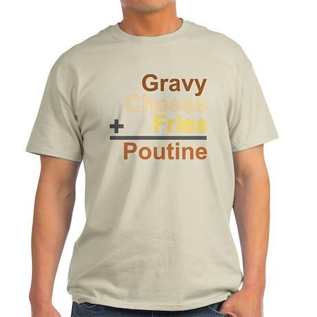 The Poutine Equation Light T-Shirt