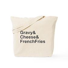 Poutine Ingredients Tote Bag