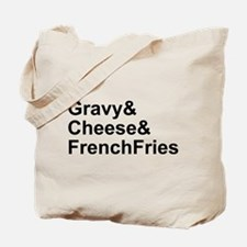 Poutine Ingredients Tote Bag