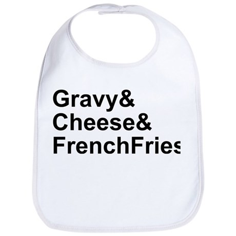 Poutine Ingredients Bib