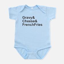 Poutine Ingredients Infant Bodysuit
