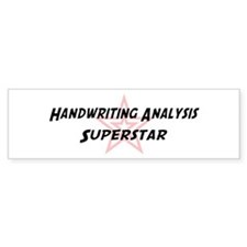 Handwriting Analysis Supersta Bumper Bumper Sticker