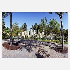 Trees in an amusement park, Legoland, California