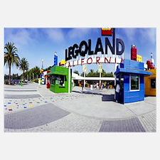 Entrance of an amusement park, Legoland, Californi