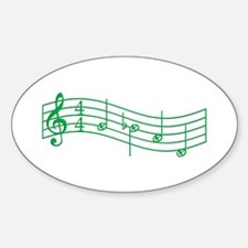"""Clover Green """"Rue's Whistle"""" Sticker (Oval)"""