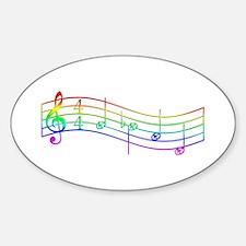 "Rainbow ""Rue's Whistle"" Sticker (Oval)"