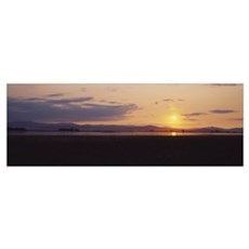 Panoramic view of a sunset, Nine-Pipe National Wil Framed Print