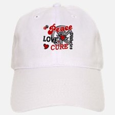 Peace Love Cure 2 Diabetes Baseball Baseball Cap