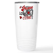 Peace Love Cure 2 Diabetes Travel Mug