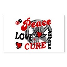Peace Love Cure 2 Diabetes Decal