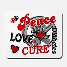 Peace Love Cure 2 Diabetes Mousepad