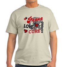 Peace Love Cure 2 Diabetes T-Shirt