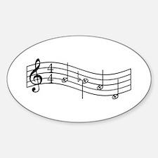 "Black ""Rue's Whistle"" Sticker (Oval)"