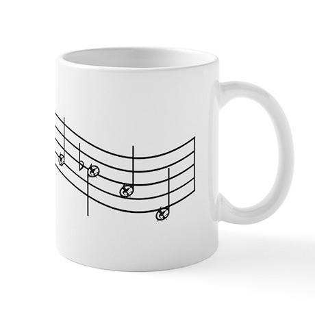 "Black ""Rue's Whistle"" Mug"