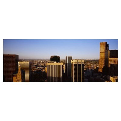 Skyscrapers in a city, Denver, Colorado Poster