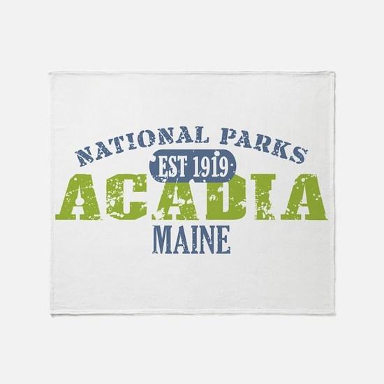 Acadia National Park Maine Throw Blanket