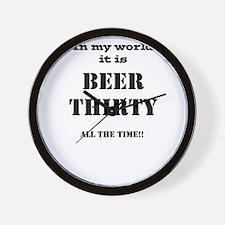 Cute Beer thirty Wall Clock