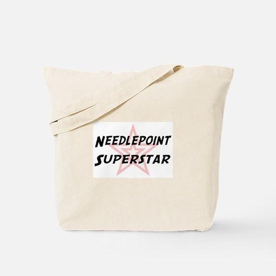 Needlepoint Superstar Tote Bag